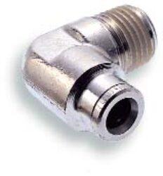 101450828-úhlové šroubení R1/4, na hadicu vnějš.pr.8mm, PUSH-IN řada 10br Pmax.18 bar , O kroužky bez silikonu