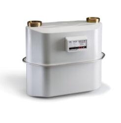 BK G 16-Membránový plynoměr.  Qmin=0,16m3/h,Qmax=25m3/h,PN 0,5bar,DN40,rozteč 280mm, se šroubením.