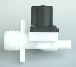 1180                                                                            -2/2 elektromagnetický ventil-nepřímo ovládaný br DN7,3;24V AC,G3/4/hadic.nástav.10,5mm, 0,3-10barbr Tmax.+90°C