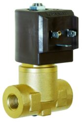 8323                                                                            -2/2 elektromagnetický ventil - nepřímo ovládaný, DN11, 24V DC, G3/8, 0,1 - 20bar, NC, br Tmax.+150°C včetně konektoru DIN 43 650 FORM Abr