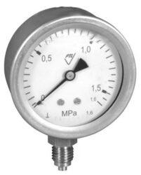 03304 - CH-Celonerezový tlakoměr se spodním přípojem.br 03304 - CH  G1/4
