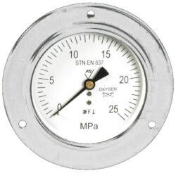 03322-Standardní tlakoměr se zadním přípojem, přední přírubou.br 03322 M20x1,5