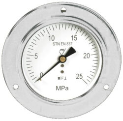 03342                                                                           -Standardní tlakoměr se zadním přípojem, přední přírubou.br 03342 M20x1,5