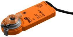 CM, CM..G-Kompaktní pohony typové řady CM (2 Nm), CM..G (2 Nm) s připojovacím kabelem nebo svorkami pro klapky do cca 4.4m2, univerzální třmen 6...12.7 mm, pro těsné montážní prostory (výška 3 cm).