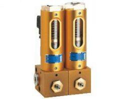 BVB-Kolektorové ventily pro olejová cirkulační mazací zařízení typové řady BVB.br Vícenásobný ventil pro blokovou instalaci.