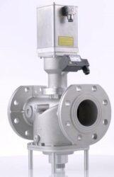 VMH-bezpečnostní ventil pro plyn s hydraulickým pohonem certifikován dle EN 161, bez proudu uzavřen s pomalým-nastavitelným otevíráním a rychlím zavíráním. pro rozvody plynu nebo vzduchu do atmosferických hořáků, do pecí a dalších technologií využívajících plyn jako palivo