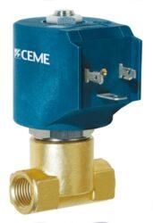 9942-2/2 elektromagnetický ventil přímo ovládaný NC (bez napětí uzavřen), DN6, G1/4, provozní tlak 0-6 bar (AC), 0-2 bar (DC) pro vzduch, vodu, páru, inertní plyny, lehké oleje tělo mosaz, vnitřní části nerez,u provedení  9912,9913 a 9914 těsnící sedlo nerez