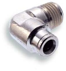 101450828-úhlové šroubení R1/4, na hadicu vnějš.pr.8mm, PUSH-IN řada 10 Pmax.18 bar , O kroužky bez silikonu