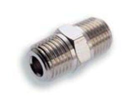 150201818-Vsuvka s vnějšími kuželovými závity R1/8xR1/8, Pmax. 18 bar