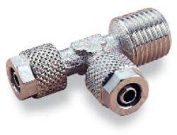 241750628-T spojka s bočním vnějším závitem R1/4, na hadicu 6/4 PUSH-ON