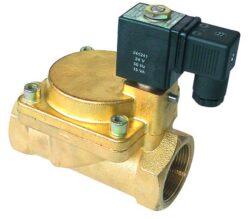 2VE25DA-Elektromag. ventil G1, bez cívky, světlost 25mm, standardní napětí: 230V AC, 24V AC, 24V DC, pracovní tlak: min. 0,3 bar, max. 16 bar (T 130°C, Pmax. 10 bar)