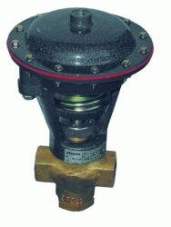 2VM500C-2-cestný membránový ventil přírubový, světlost 50mm, 0-10 bar, v zákl. poloze otevřen,  ovládací tlak min. 2,7 bar, max. 3,3 bar