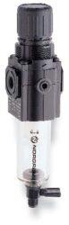 B72G-3GK-QT3-RMN-filtr-regulátor G3/8, tlakový rozsah 0,3-10 bar, vložka 40 µm,ruční vypouštění kondenzátu, s přetlakovým jištěním, bez manometru