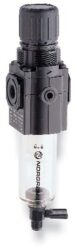 B72G-3GK-QD3-RMN-filtr-regulátor G3/8, tlakový rozsah 0,3-10 bar, vložka 40 µm,ruční vypouštění kondenzátu, s přetlakovým jištěním