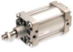 RA/8063/JM/40                                                                   - pneumatický válec dvojčinný pr.63mm, zdvih 40mm,magnetický píst nastavitelné tlumení , připojení ovl.vzduchu G3/8, provedení dle ISO 15552, ISO 6431,VDMA 24562 a NFE 49-003-1