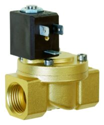 8513                                                                            -2/2 elektromagnetický ventil - nepřímo ovládaný, DN10, 24V DC, G3/8, 0,25 - 10bar, NC,  Tmax.+90°C včetně konektoru DIN 43 650 FORM B