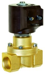 8414                                                                            -2/2 elektromagnetický ventil - nuceně ovládaný, DN12, G1/2, 24V AC, 0 - 5bar, NC, Tmax.+90°C konektor je součástí balení ventilu