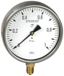 03313 - S                                                                       -Standardní tlakoměr se spodním přípojem 03313 - S 0-600Kpa M20x1,5