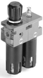 FR+L ND 3/8 08 50 RMSA N TMV-filtr-regulátor + maznice G3/8, rozsah 0-8 bar,50µm, ruční/poloautomat. vypouštění kondenzátu