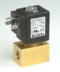 D223                                                                            -2/2 elektromagnetický ventil-přímo ovládaný DN4,5,12V DC,G1/4,0-4bar,NC,Tmax.+130°C konektor není součástí balení ventilu