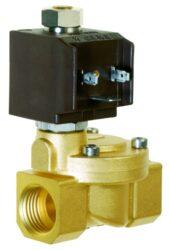 8718                                                                            -2/2 elektromagnetický ventil - nepřímo ovládaný, DN39, 230V AC, G6/4, 0,3 - 10bar, NO,  Tmax.+90°C včetně konektoru DIN 43 650 FORM A