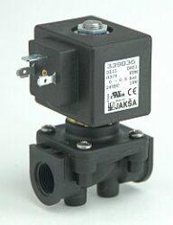 DL6                                                                             -2/2 elektromagnetický ventil-přímo ovládaný DN6; 24V DC,G3/8,0-2,5bar,NC,Tmax.+95°C konektor není součástí balení ventilu