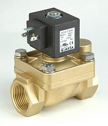 M2621G - pro topné plyny, bioplyn                                               -2/2 elektromagnetický ventil - nuceně ovládaný, DN25; G 1, 200V DC, 0-1bar, NC, Tmax.+60°C konektor musí být osazen usměrňovačem 230V AC / 200V DC