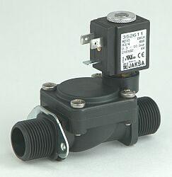M255                                                                            -2/2 elektromagnetický ventil - nepřímo ovládaný, DN18; G3/4, 24V DC, 0,3-8bar,NC, Tmax.+85°C,ruční ovládání konektor není součástí balení ventilu