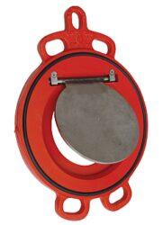 Zpětná klapka menipřírubová, série 800, DN-125,PN-10/16,(voda,pitná voda)-Mezipřírubové připojení PN-10/16 ,DN-125, pro médium voda a pitná voda - ( těsnění EPDM ) .