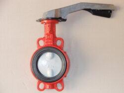 Uzavírací klapka-mezipřírubová ,série 600 ,verze B ,DN-50 ,PN-16 ,(voda)-Uzavírací klapka-mezipřírubová, série 600 verze B ,DN-50 ,PN-16 ,(pro vodu ). Ovládání ruční pákou, matr.tělesa : GG 25, manžeta: EPDM , talíř: GGG 40 . ATEST na pitnou vodu dle vyhlášky č. 409/2005. Připojení - stavební délka dle DIN 3202-K1, ISO příruba PN6/10/16 .