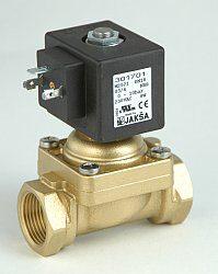 M2521G-pro topné plyny ,bioplyn-2/2 elektromagnetický ventil - nuceně ovládaný, DN18; G3/4, 24V DC, 0-1bar, NC, Tmax.+60°C konektor není součástí balení ventilu
