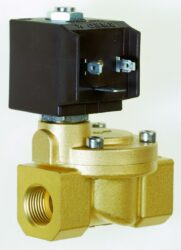 8616                                                                            -2/2 elektromagnetický ventil - nepřímo ovládaný, DN25, 230V AC, G1, 0,3 - 10bar, NC,  Tmax.+130°C včetně konektoru DIN 43 650 FORM A
