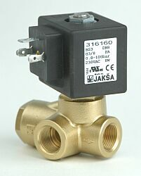 BS3                                                                             -2/2 elektromagnetický ventil-nepřímo ovládaný  DN8; 230V AC, G3/8, NC, 0,8-100bar, Tmax.+90°C ventil bez konektoru DIN 43650A