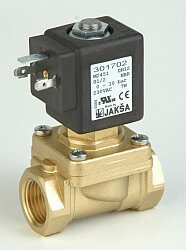 M2451                                                                           -2/2 elektromagnetický ventil - nuceně ovládaný, DN12, G1/2, 230V AC, 0-10bar, NC, Tmax.+130°C konektor není součástí balení ventilu
