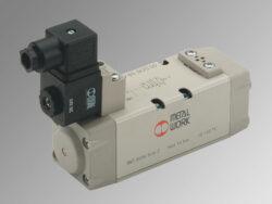 ISV 55 SOS OO-5/2 elektropneumatický ventil ISO 1 monostabil, 2,5-10 bar,  průtok 1100 l/min., mechanická pružina