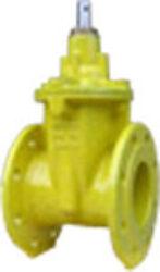 šoupátko přírubové -víkové typ: EKO-PLUS 301,DN-100,PN16, plyn.-Šoupátko přírubové -víkové s volným koncem ,typ: EKO-PLUS 301,DN-100,PN16, pro médium  BIOplyn, plyn.
