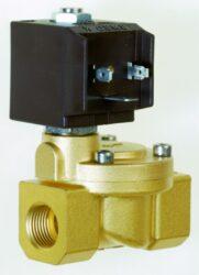 8616                                                                            -2/2 elektromagnetický ventil - nepřímo ovládaný, DN25, 24V DC, G1, 0,3 - 10bar, NC,  Tmax.+130°C včetně konektoru DIN 43 650 FORM A
