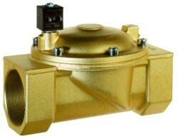 8620                                                                            -2/2 elektromagnetický ventil - nepřímo ovládaný, DN65, 230V AC, G21/2, 0,3 - 10bar, NC,  Tmax.+90°C včetně konektoru DIN 43 650 FORM A