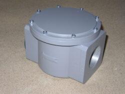 """Plynový filtr KAP, Rp 2"""" (DN50), PN -16.-Závitové připojení  RP 2 (DN50), PN-16, (max.tlak: 6 bar) ,filtrační schopnost 5MY."""
