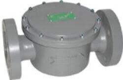 Plynový filtr KAP, DN-100, PN -16.-Přírubové připojení  PN-16 ,DN-100, (max.tlak: 6 bar) ,filtrační schopnost 5MY.
