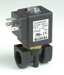 D223PA                                                                          -2/2 elektromagnetický ventil-přímo ovládaný DN4,24V DC,G3/8,0-8bar,NC,Tmax.+130°C konektor není součástí balení ventilu