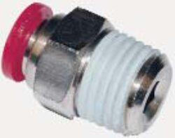 C01250618-přímé šroubení R1/8, na hadicu vnějš.pr.6mm,řada PNEUFIT C Pmax.10 bar , O kroužky bez silikonu