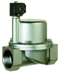 9016-pro páru +180°C-2/2 elektromagnetický ventil - nepřímo ovládaný, DN21, 230V AC, G1, 1 - 10bar, NC,  Tmax.+180°C včetně konektoru DIN 43 650 FORM A