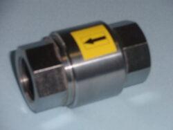 zpětný ventil-závitový,typ: ZV 2-G, Rp 1 1/4 (DN32), PN-40.-Zpětný ventil -závitový, typ: ZV 2-G,Rp 1 1/4 (DN32),PN-40. Zpětný ventil není uzavírací armatura. Max.tlak při teplotě do 100°C :  4 MPa.