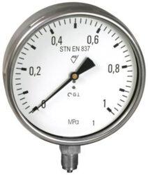13333 - V-Standardní tlakoměr se spodním přípojem (vodotěsný). 13333 - V M20x1,5