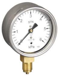 03368 - S-Membránový tlakoměr s krabicovou membránou a spodním přípojem. 03368 - S  M12x1,5