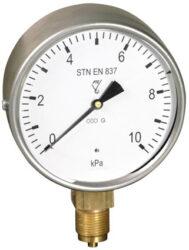 03398 - S-Membránový tlakoměr s krabicovou membránou a spodním přípojem. 03398 - S  M20x1,5