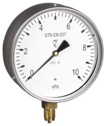03388 - Y-Membránový tlakoměr s krabicovou membránou a spodním přípojem. 03388 - Y  M20x1,5