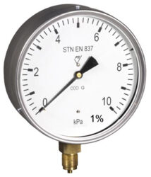 13388-Membránový tlakoměr s krabicovou membránou a spodním přípojem. 13388  M20x1,5