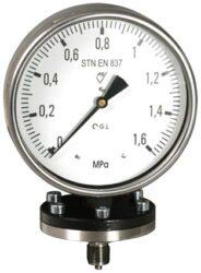 03376-Membránový tlakoměr se spodní přírubou. 03379  M20x1,5